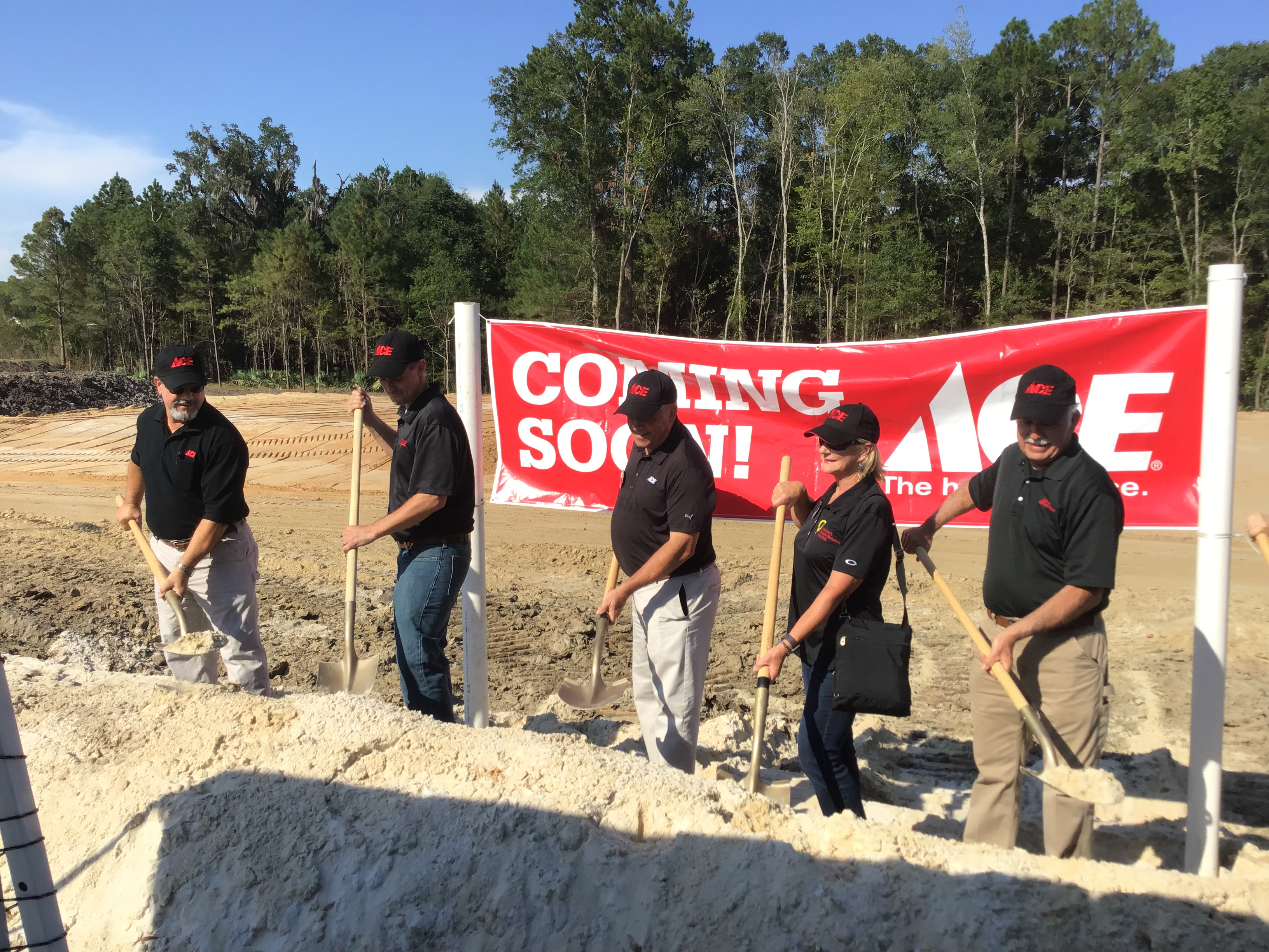 Berwick Ace Hardware Groundbreaking